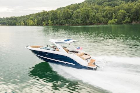 New Sea Ray SLX 310 OB Bowrider Boat with Mercury Verado OB