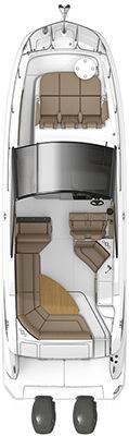 Sundancer 320 Coupe OutboardFloorplan