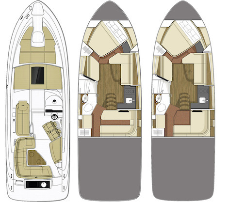 Sundancer 350 CoupeFloorplan